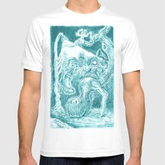 Creatures under Lamppost Mens Fitted Tee SMALL White