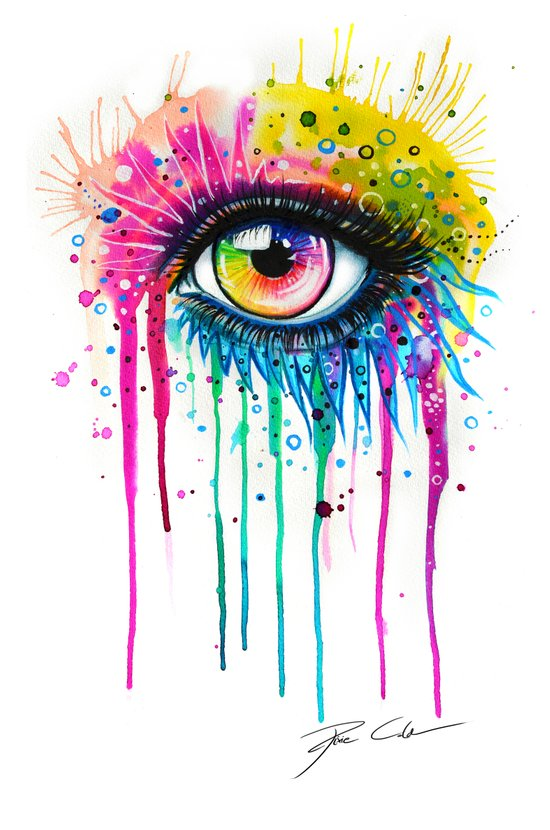 """Rainbow in your eyes"" Art Print"