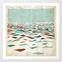 minimalist Art Prints featuring Sea Recollection by Efi Tolia