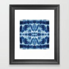 Tie Dye Blues Twos Framed Art Print