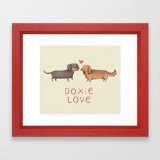 Doxie Love Framed Art Print