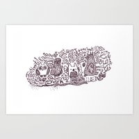 You R A Hoot! Art Print
