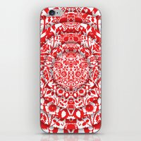Illusionary Daisy (Red) iPhone & iPod Skin