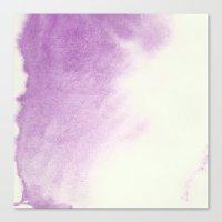 purple watercolor Canvas Print