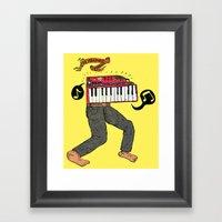 The Keyboard Man Framed Art Print