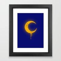 Melting Moon2 Framed Art Print