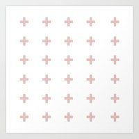 +++ (Pink) Art Print