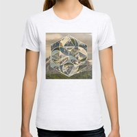 Geometric mountains 1 Womens Fitted Tee Ash Grey SMALL