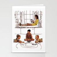 moonrise kingdom Stationery Cards featuring moonrise kingdom by sharon