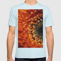 Floral Sun Burst Mens Fitted Tee Light Blue SMALL