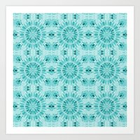 teal Art Prints featuring Teal by lillianhibiscus