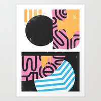 Goorunette Art Print