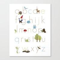 Woodland Alphabet Canvas Print