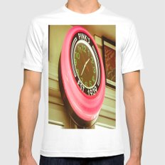 Pinks SMALL White Mens Fitted Tee