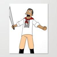 Andres Bonifacio Simpsons Style Canvas Print