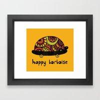 Happy Tortoise Framed Art Print