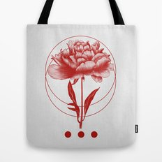 Inked III (Red) Tote Bag