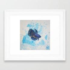 Japanese Fighting Fish Framed Art Print