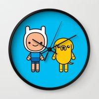 #48 Jake and Finn Wall Clock