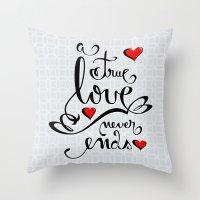 Valentine Love Calligrap… Throw Pillow