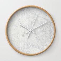 Silver 3D Wall Clock