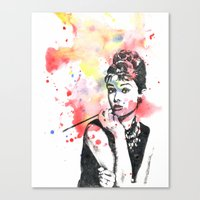 Audrey Hepburn Painting Canvas Print