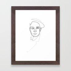 One Line Buster Keaton Framed Art Print
