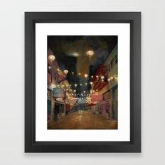 Lights on Chung King Framed Art Print