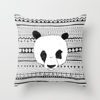 PANDA PATT! Throw Pillow
