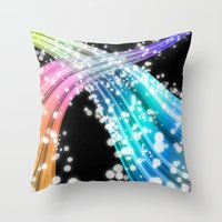 Space Highway Throw Pillow