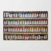 Tubes Of Paint Canvas Print