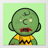 Zombie Charlie Brown Canvas Print