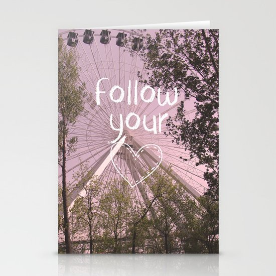 Follow your Heart Stationery Card