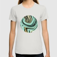 MARBELLOUS IN MINT AND GOLD Womens Fitted Tee Silver SMALL