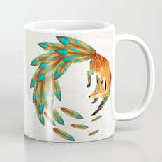 fox circle Mug