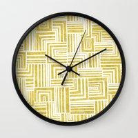 Golden Doodle weave Wall Clock