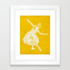 ballerina waves Framed Art Print