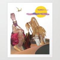 King Hairy III & Queen G… Art Print