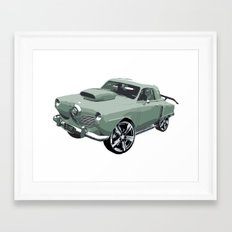 Studebaker in Green Framed Art Print