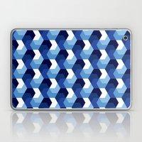 Blue Hexagons Laptop & iPad Skin