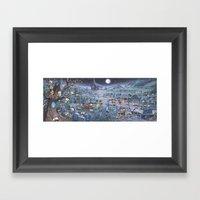 Zombie Melee Framed Art Print