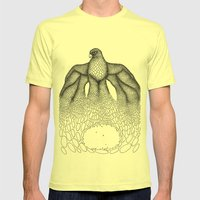 Falcon Mens Fitted Tee Lemon SMALL