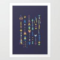 Stars & Arrows Art Print