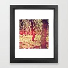 Trippy Forest Framed Art Print