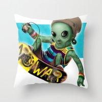 Area 51 Skate Park Throw Pillow