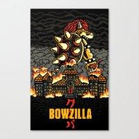 BOWZILLA Canvas Print