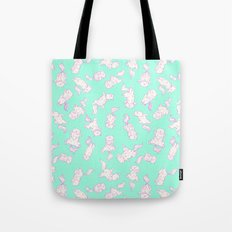 Lazy Cat Pattern Solid Tote Bag