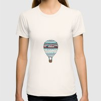 Candy Balloon Womens Fitted Tee Natural SMALL