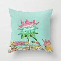 Up in Lights Throw Pillow