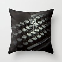 Type Character Throw Pillow